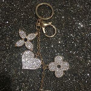 Designer Bling Purse Charm / Key Ring